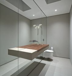 salle bains avec vasque de design moderne unique