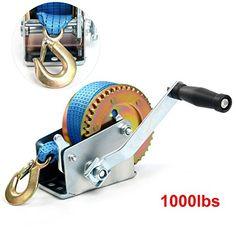 FreeTec 8m treuil treuil manuel 453kg (1000lbs) avec bleu polyester Cordon à bergung Treuil bateau treuil treuil treuil