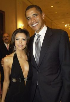 Then-Senator Barack Obama posed with Eva Longoria at the National Hispanic Foundation For The Arts Annual 'Noche de Gala' on September 13, 2005 in Washington, DC. Longoria recently campaigned for the president in Las Vegas for the 2012 election.