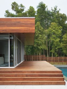 Photos of Wood Decks for your Exterior Ideas : Outstanding Photo Of Wood Decks At Modern Deck With No Rails