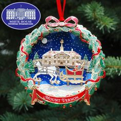 The White House Ornament Collection Presents 2006 Mount Vernon Sleighride Appearance Of