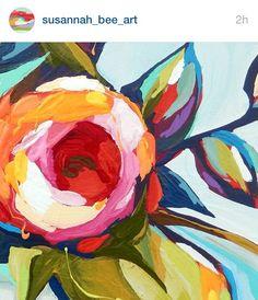 Blumen in Farbe , Acryl, bunt