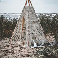 beach macrame teepee