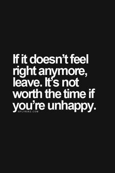 Your relationship making you unhappy