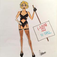 """Girl Power""  #lesstylistesetleursdrolesdedames #IStandWithHer #drawing #MyPersonalCloset #soyezvousmeme"