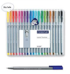 Staedtler Triplus Fineliner 334 SB20 Color Ink Pen 0.3mm Artist Office #Staedtler