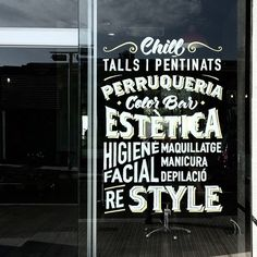 Handpainted lettering composition by Dase for Hair Concept. http://dase.es/portfolio-item/hair-concept