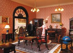 The period furniture department in the largest miniature department store in the world.