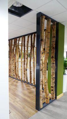 Birch Tree Trunk Screen & Custom Frame