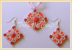 Trupti's Craft: Paper Quilling Jewelry Set for Swap Team Event