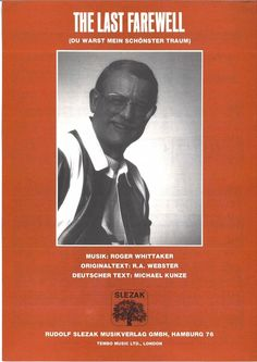 ROGER WHITTAKER - THE LAST FAREWELL - 1971 - DEUTSCh / ENGLISCHER TEXT MUSIKNOTE