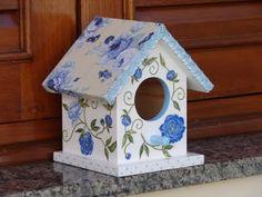Bell'Arte - Arte em madeira e tecido: casinha de passarinho