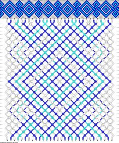 Celtic knot, 3 colors, 30 threads. #63492 from friendship-bracelets.net