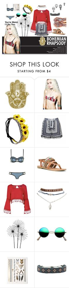 """""""Boho"""" by unknowngirl03 ❤ liked on Polyvore featuring Billabong, Beach Riot, Wet Seal, Ally Fashion, Diba, Boohoo, Child Of Wild, Retrò, LeJu and INDIE HAIR"""