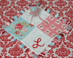 Ribbon baby blanket, love to give these as gifts but this one is especially cute with the monogram -- great instructions here.
