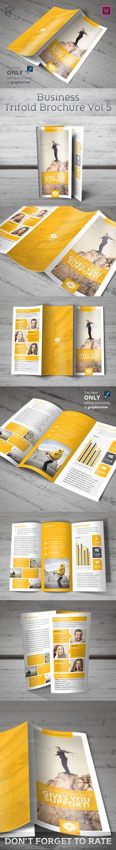 Business Trifold Brochure Template #design Download: http://graphicriver.net/item/business-trifold-brochure-vol-5/12646466?ref=ksioks