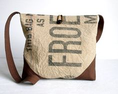 Recycled vintage grain sack bags from Belrossa!  (https://www.etsy.com/shop/Lindock)
