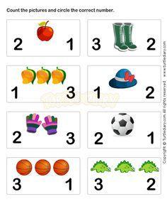 Learn Numbers Worksheet3 - math Worksheets - preschool Worksheets