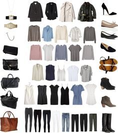 """50 Item Capsule Wardrobe"" by keelyhenesey ❤ liked on Polyvore"