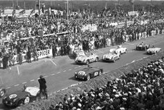 The start of the infamous 1955 24-Hours of Le Mans