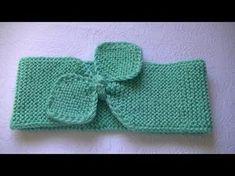 Вязание повязки на голову спицами. - YouTube