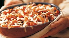 Add something cheesy to your family's Italian cuisine night!  Serve beef and pasta casserole - a dish that's ready in 50 minutes!