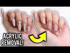 Remove Acrylic Nails At Home: Step By Step How-To Tutorial – Daily Fashion Nails After Acrylics, Remove Acrylic Nails, Acrylic Nails At Home, Long Acrylic Nails, Acrylic Nail Removal, Nail Art At Home, Nail Art Diy, Easy Nail Art, Diy Nails