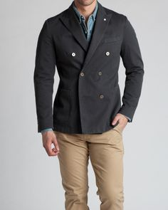 L.B.M. Ernesto cotton twill blazer