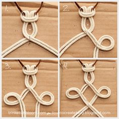 Get knotty and create one of the hottest accessory trends for summer a DIY Dip Dyed Macramé Necklace. Fashion always gets a little mo. Macrame Colar, Macrame Art, Macrame Projects, Macrame Necklace, Macrame Knots, Macrame Jewelry, Wire Earrings, Wire Jewelry, Handmade Jewelry