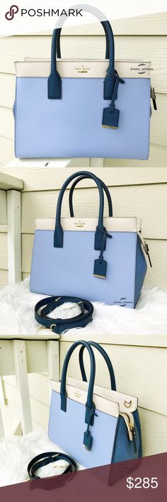 💎Kate Spade Large Cameron Street Candace💎 💟Gorgeous Sky Blue Candace Satchel! 🎀Brand new; In perfect condition, no damages; ✔️All items 100% Authentic; ⛔️NO TRADES;  💰REASONABLE offers will only be considered through the offer button. NO lowballs, please; 🌷Smoke free, pet free home; 🚫Promotion of other closets in my listings is not appreciated and will be blocked; 💸BUNDLE and save!!   💋Happy Poshing💋 kate spade Bags