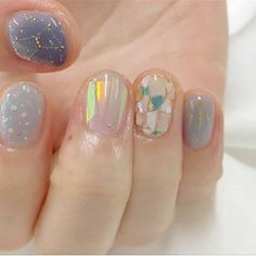 Discover cute and easy nail art designs for all occasions. Find inspiration for Easter, Halloween and Christmas and create your next nail art design. Simple Nail Art Designs, Easy Nail Art, Nail Designs, Simple Art, Nail Art Pastel, Fun Nails, Pretty Nails, Glitter Nails, Korean Nails