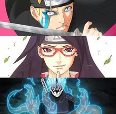 Does any one else notice how normal sarada looks compared to the boys