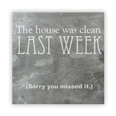 Tile - Large Slate   - The House Was Clean Last Week: Sorry You Missed It