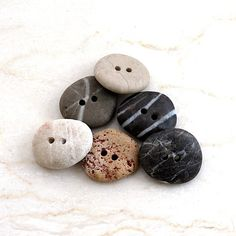 Love components that are made out of natural materials. These stone buttons have SO much character!