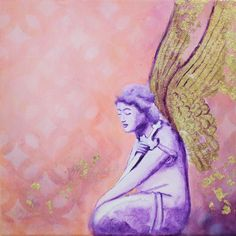 Original Angel Painting on canvas Angel Paintings, Original Paintings, Canvas Size, Abstract Art, Aurora Sleeping Beauty, Religion, Faith, Hand Painted, Wall Art