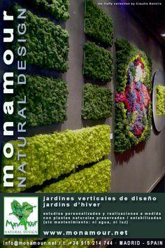Los jardines de Claudia Bonollo para Monamour Natural Design sean verticales, oníricos, literarios, temáticos, metafisicos o inspirados por la mitología, son jardines únicos, rigurosamente hechos a…