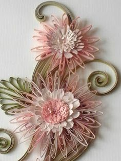 Quilling idea--wonder if this could be done with ribbon