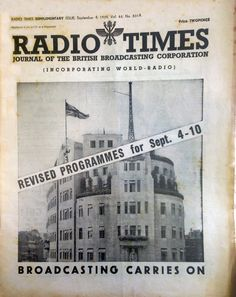 The BBC at War: Read The Radio Times issue published on the outbreak of World War 2.