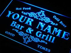 U-tm Name Personifizierte Kunden Familie Bar & Grill Bier Hause Geschenk Neon Zeichen mit ein-/Ausschalter 7 farben