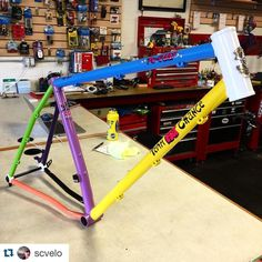 Oooohhhh yeah! This very special @kickstarter custom #yoeddy about to hit the work stand for a bike build @scvelo in Ashland, OR. http://ift.tt/1q0NXnq