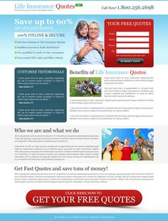 Life insurance landing page design from affordable and reliable price. Download it now.