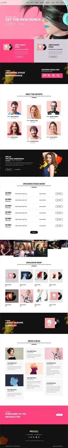 Music is clean and modern design responsive #bootstrap template for #Band, #DJ & #Music Studios website download now..