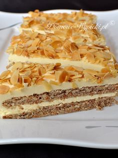 Polish Desserts, Polish Recipes, Sweet Desserts, No Bake Desserts, Honey Cake, Healthy Sweets, How Sweet Eats, Baked Goods, Cupcake Cakes