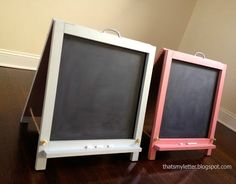 Ana White   Build a Folding Desktop Chalkboard Easel   Free and Easy DIY Project and Furniture Plans