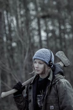 The character of Ree from Winter's Bone, played by Jennifer Lawrence. This was nominated for a Best Movie Oscar. The movie was, surprisingly, very good.