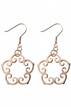 rose gold plated #flower #earrings I designed for NEW ONE I NEWONE-SHOP.COM