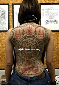 Hindu Tattoos, Sak Yant Tattoo, Wardrobe Room, Thai Tattoo, Girl Tattoos, Thailand, Tops, Women, Fashion
