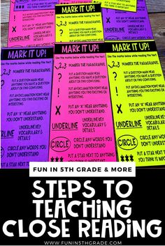 Are you curious about close reading?  Check out this blog post that discusses how to get started with close reading in your classroom.  Learn what is close reading, what are the benefits of close reading & why students should learn to close read.  Angie, from Fun in 5th Grade explains how to teach close reading breaking it down into simple steps.  Help improve your students reading comprehension strategies with these great tips.  #closereading