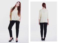 Lekko przezroczysta, kanarkowa bluzka idealna na chłodniejsze, letnie dni. Dostępna w naszym sklepie internetowym! http://gantos.pl/pl/koszule-bluzki/99-7.html