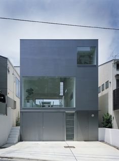 Industrial Designer House By Koji Tsutsui Architect & Associates, A Modern Simple Minimalist Living Space Architecture Design Houses Architecture, Architecture Design, Minimalist Architecture, Residential Architecture, Contemporary Architecture, Tokyo Architecture, Industrial Architecture, Architecture Drawings, Minimalist House Design